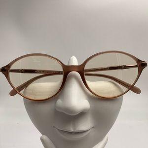Vintage Anne Klein Brown Oval Sunglasses Frames